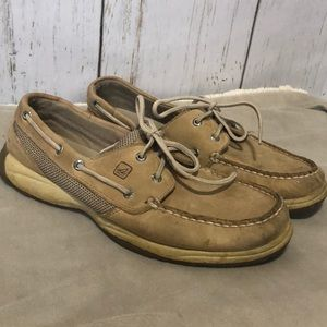 Classic Sperry Topsiders - light buck tan 9.5